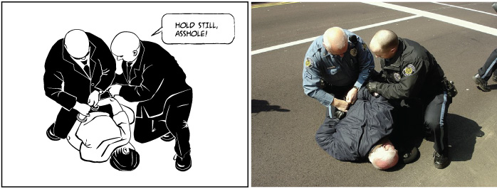 Клетка из комикса - фотография и конечное изображение